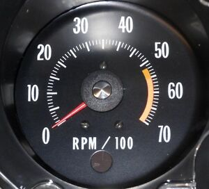 1971 1972 Chevelle Ss El Camino Monte Carlo Tachometer White Tach Gauges