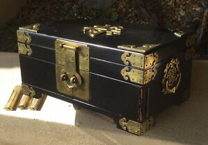 Gorgeous Vintage Large Chinese Jewelry Trinket Chest