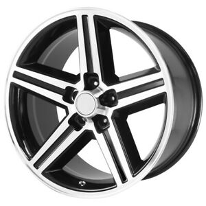 4 New 18 Inch Replica 148b Iroc 18x8 5x4 75 0mm Black Machined Wheels Rims