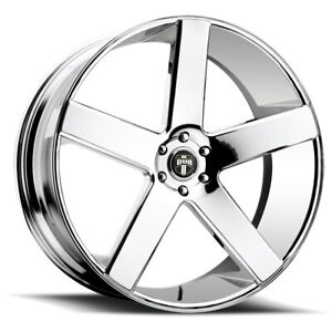 4 Dub S115 Baller 22x9 5 6x135 31mm Chrome Wheels Rims 22 Inch
