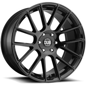 4 Dub S205 Luxe 24x9 5 5x5 5 25mm Gloss Black Wheels Rims 24 Inch