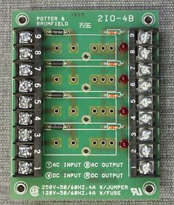 Potter Brumfield 2io 4b 4 Channel Solid State Relay I o Module Board Terminal