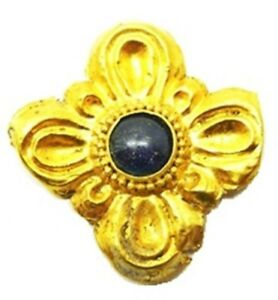 5th Century B C Ancient Greek Gold Scythian Jewelled Floral Appliqu Rosette