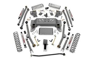 Rough Country 4 Zj Jeep Grand Cherokee Long Arm Suspension Lift Kit 93 98 4wd