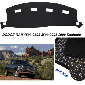 Black gray Dashmat Dash Cover For Dodge Ram 1500 2500 3500 2002 2005 Dash Carpet