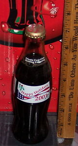 2001 HAPPY HOLIDAYS ATLANTA COCA COLA BOTTLING COMPANY 8 OZ COCA COLA BOTTLE