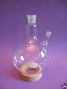 Round Bottom Round bottomed Flask Middle Neck Ns 29 32 Side 19 26 W 0705xxx
