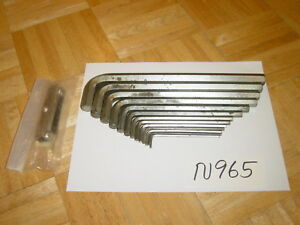 Snap on Tools 13 Piece Sae Long Hex Key L Shape Wrenches 7 Pc Metric Hex Set