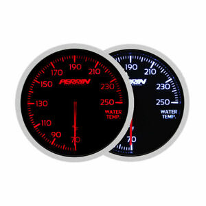 Perrin 60mm Red White Universal 250 Deg F Water Temperature Gauge W Cup