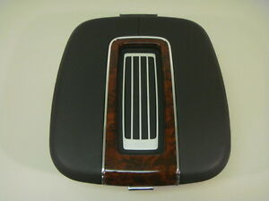 Cadillac Escalade 2007 2013 Center Console Arm Rest Lether Woodgrain Box New
