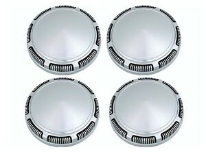 Pg Classic 247 Sd 1966 78 Mopar Stainless Steel Dog Dish Hub Caps Set Of 4