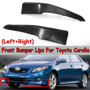 For 2009 2010 Toyota Corolla S Style Front Lower Body Kit Bumper Lips Spoiler
