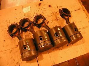 Allis Chalmers Wd Tractor Ac Engine Motor 4 Pistons Rings Rods