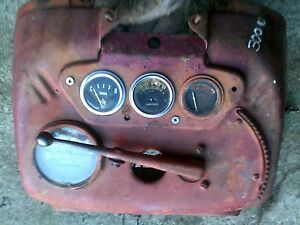 Ihc 300 Utility Tractor Dash Panel W Gauges Tach Tachometer Throttle Lever