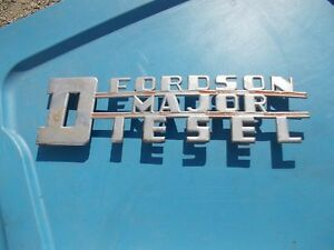 Fordson Major Diesel Tractor Orignal Power Major Chrome Hood Side Panel Emblem
