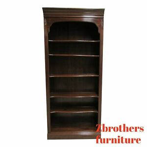 Ethan Allen Cherry Georgian Court Chippendale Book Shelf Display Bookcase A