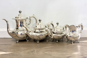 Burgundy By Reed Barton 4 Piece Sterling Silver Tea Set 745