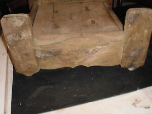 Antique Barber Chair Part Kochs Wood Seat Frame No 1