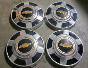 Vintage 1980 1987 Chevy 3 4 Ton Truck Dog Dish Hubcaps Set Of 4 12 Used