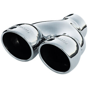Flowmaster Exhaust Tip Dual 3 5 In Rolled Angle Polished Ss Fits 2 50 In Tub