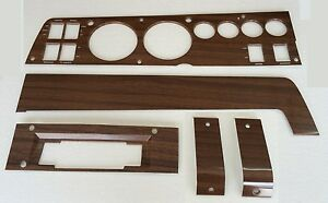 Pg Classic 141w 8set 1969 B body Rallye Woodgrain Dash Bezel Kit 8track No Ac
