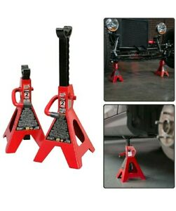 Car Jack Stands 2 Ton Vehicle Support 17 High Lift Garage Auto Tool Set 2 Pack