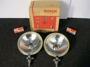 Rally Driving Lamps Bosch Halogen Fog Lights Vintage Germany Car Accessory Nos