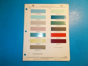1956 Dodge Ditzler Paint Chip Samples