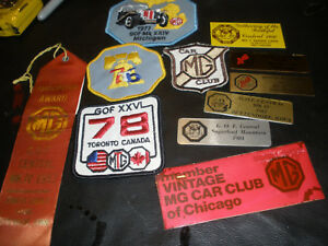 Vintage Mg patches Particpation Dash Medal 70s 80s Plus Mg Key