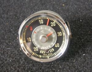Motometer Inside Outside Thermometer Gauge Moto Meter Thermo Porsche 356 911