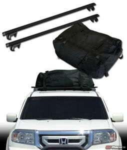 Universal 50 Blk Oval Roof Rail Rack Cross Bars W Cargo Carrier Bag Luggage G1