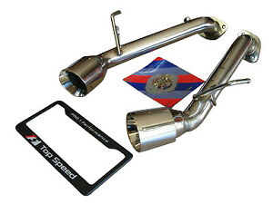 Fits Infiniti G37 Coupe 08 13 Top Speed Pro 1 Straight Axle Back Exhaust System
