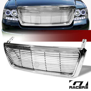 For 2004 2008 Ford F150 Truck Chrome Billet Style Front Hood Bumper Grill Grille