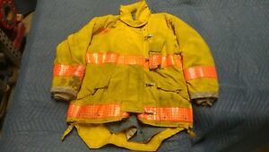 Yellow Morning Pride Firefighter Jacket Coat Turnout Bunker Nomex 50 X 31 37