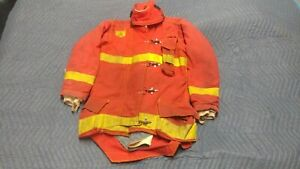 Red Morning Pride Firefighter Jacket Coat Turnout Bunker Nomex 38 X 37 X 36