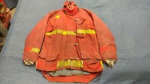 Red Morning Pride Firefighter Jacket Coat Turnout Bunker Nomex 50 X 39 X 38