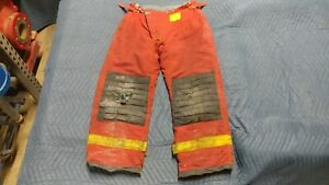 Red Morning Pride Firefighter Pants Turnout Bunker Gear Nomex 40 X 33 Fireman