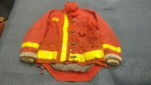 Red Morning Pride Firefighter Jacket Coat Turnout Bunker Nomex 42 X 35 X 34