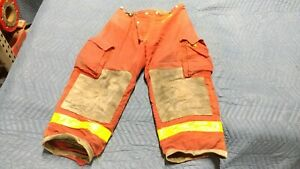 Red Morning Pride Firefighter Pants Turnout Bunker Gear Nomex Aramid 36 X 28