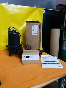 Dayton 3bb88 Submersible Sewage Pump 1 2 Hp Automatic Tether Switch 2 In Inch