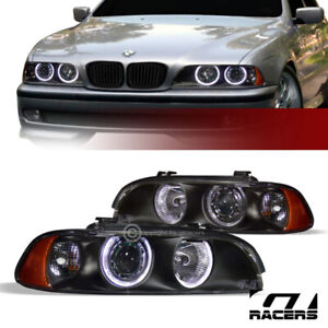 For 1997 2003 Bmw E39 5 series Blk Halo Projector Headlights Lamps Signal Amb Ks