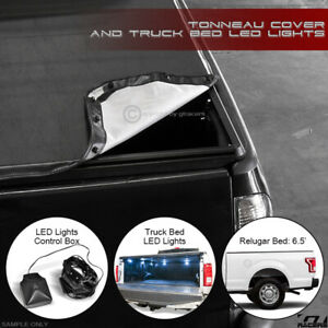 Snap On Tonneau Cover Led Lights 1999 2016 F250 F350 Superduty 6 5 Ft Truck Bed