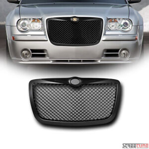 For 04 10 Chrysler 300 300c Matte Bk Bentley Mesh Front Grill Grille Replacement