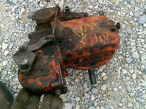 Allis Chalmers Ac Wd Wd45 Tractor Hydraulic Pump Valve Works Good
