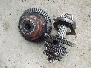 Farmall 560 Tractor Ih Main Transmission Matched Set Bottom Gears Shaft Pinion