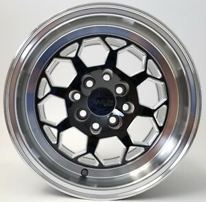 Traklite Octane Drag Wheel Black W Machine Lip 13x10 4x100 5mm Honda Pair 2qty