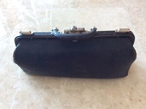 Antique Vintage Doctor S Bag Genuine Leather Interior Early 1900 S Chrome