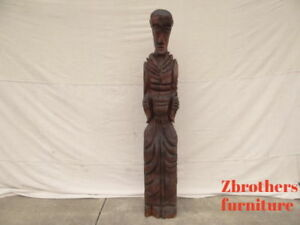 Witco Carved Mid Century 5 5 Foot Statue Carving Vintage