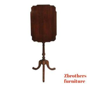 Vintage Pennsylvania House Cherry One Drawer Flip Top Lamp End Table Stand
