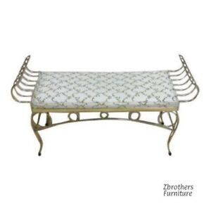 Vintage French Regency Window Bench Seat Stool Ottoman